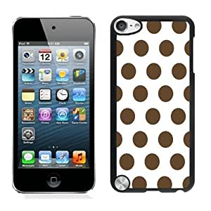 Best-Diy Beautifulcase Suppliersale good review Polka Dot White and Dark PTRnjEXARkw Brown iPod touch 5 case cover Black Cover