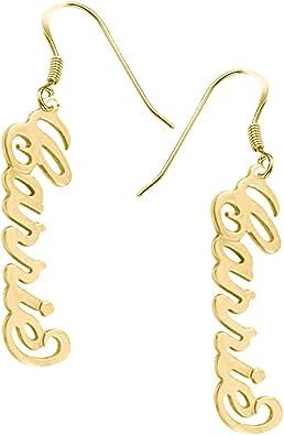 gold hoop name earrings silver bar earrings Custom Dangle Drop Name Earrings custom date earrings Custom Earrings Personalized Gift