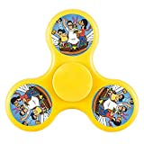 New style Bob's Burgers Family Pose Hands Fidget Spinner Toy Stress Reducer - Perfect for ADHD, Anxiety, and Autism Adult Children, Ultra Fast Bearings(Yellow)