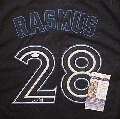 Colby Rasmus Toronto Blue Jays Autographed Black #28 Jersey JSA COA
