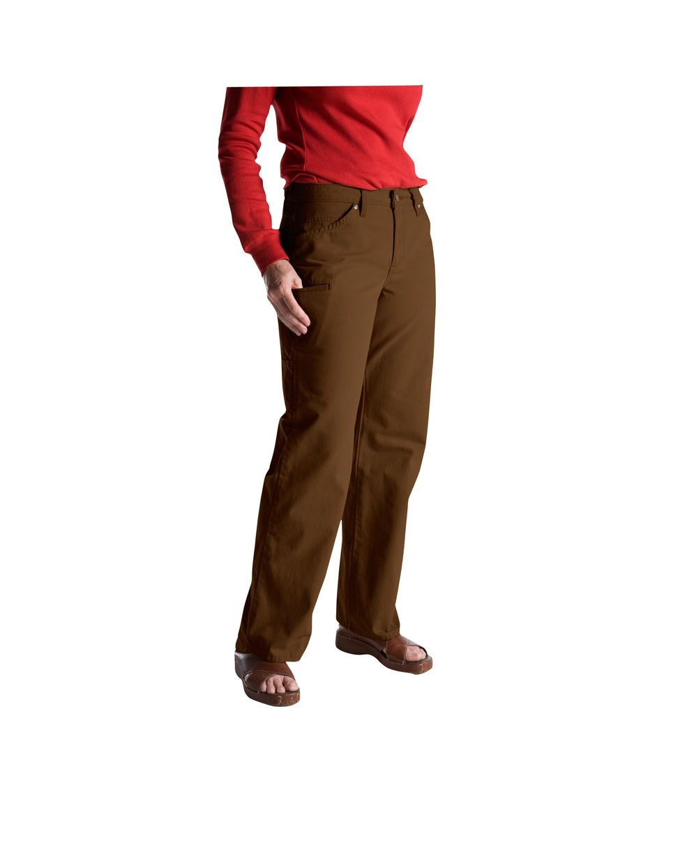 Dickies Women's Carpenter Straright Leg Work Wear Pants FP120 (Rinsed Timber Brown, 8P)