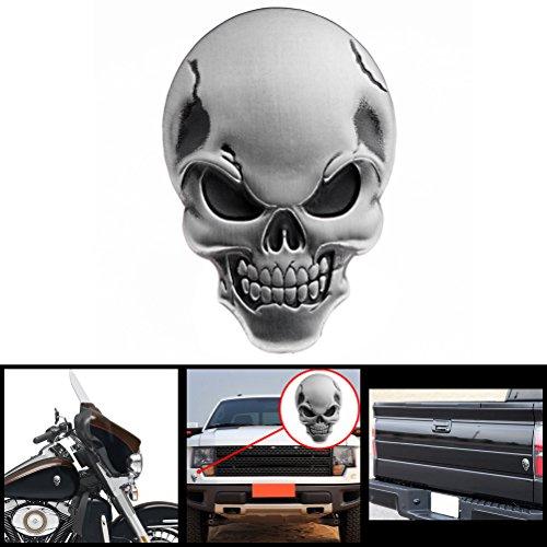 Black Junson Metal Skull Head Sticker Logo Badge Emblem Decal for Auto Car