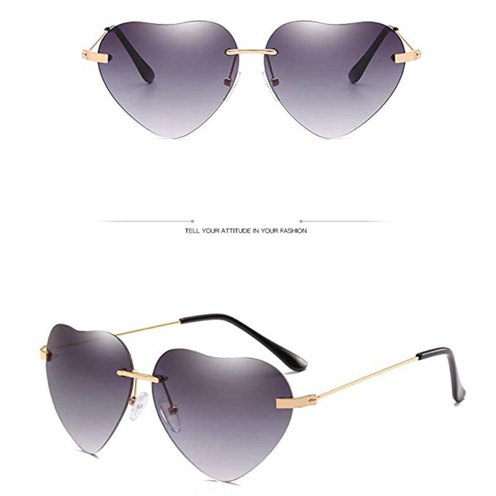 Thepass Vintage Sunglasses Retro Love Ocean Piece Street Beat Peach Heart Shaped Sunglasses