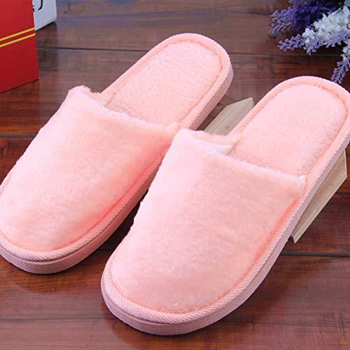 Adulte Vige Coton Slip en Semelle Doux Hommes Caoutchouc Intérieur Chaud Peluche Silent Femmes Maison en Pantoufle Chaussures Maison Maison Anti Semelle Respirant AUrxRwFAq