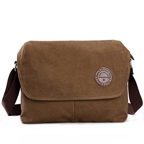 de cuerpo bolsa de bolsas Cross Army lienzo lona Bolso bandolera bandolera Coffee marrón qxRwzW0p