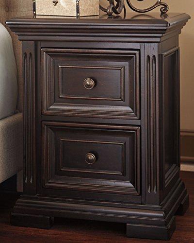 Ashley Furniture Signature Design - Willenburg Birch Nightstand - Casual Master Bedroom End Table - Dark Brown