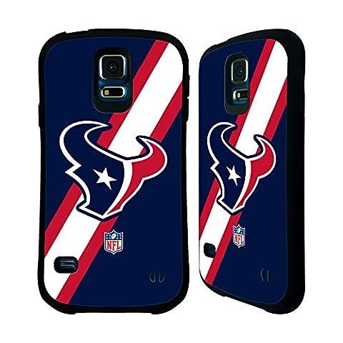 Official NFL Stripes Houston Texans Logo Hybrid Case for Samsung Galaxy S5 / S5 Neo (Houston Texans Samsung S5 Case)