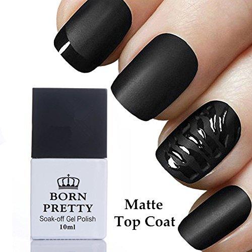 - BORN PRETTY 10ml Matte Top Coat No Wipe Soak Off UV Gel Nail Polish Finish Lacquers Manicure