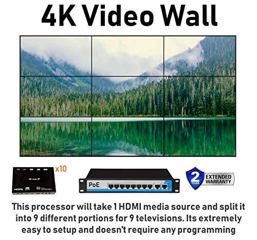 3x3 4K UHD Video Wall HDMI Processor IP PoE Network HDTV 1080p Controller Splicer 3x2 2x2 3x1 1x3 2x3 4x2 2x4 1x2 2x1