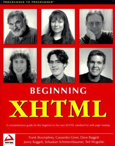 Beginning XHTML by Frank Boumphrey (2000-03-31)