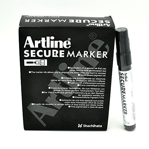 - Artline Secure Marker 4.mm Chisel EKSC-4 (12 Pack)