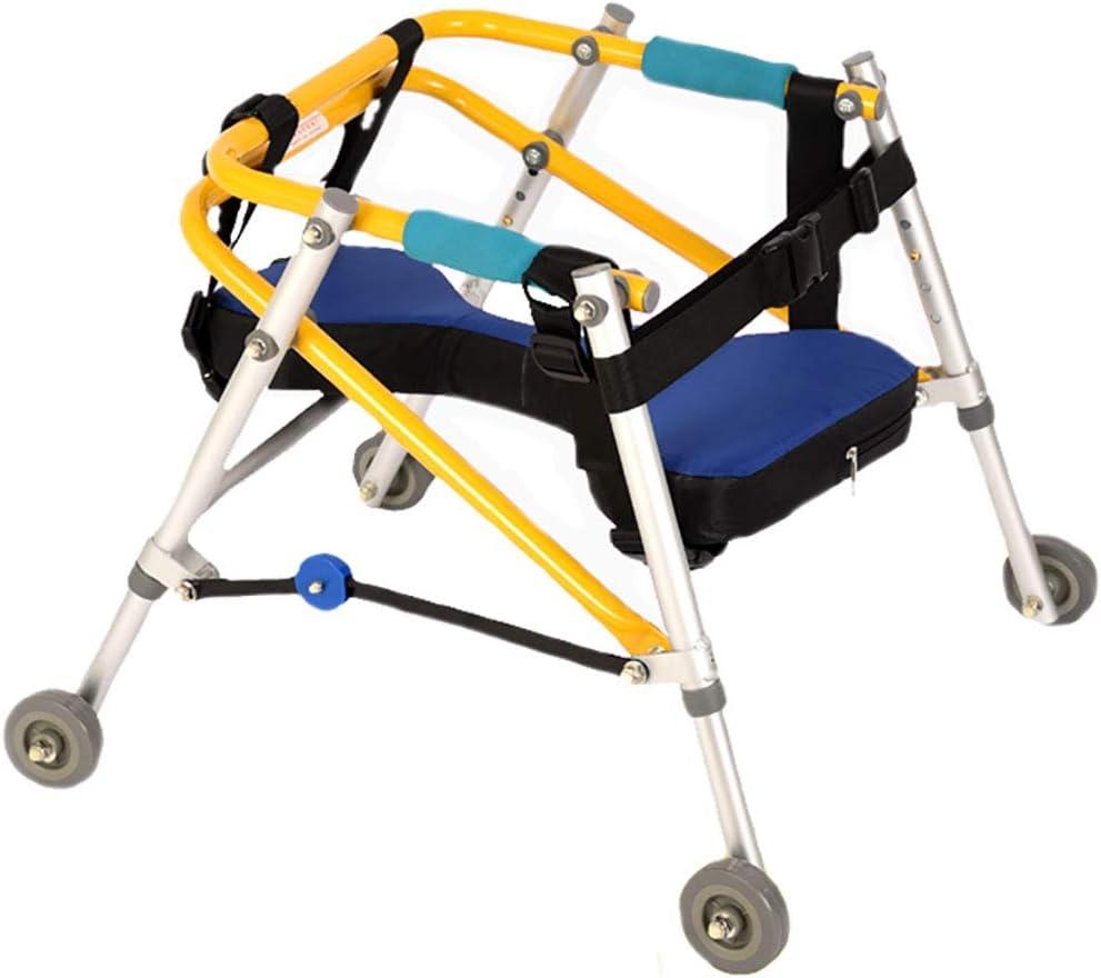 FDHLTR Andador de Entrenamiento para Caminantes Caminante de Cuatro Ruedas direccional para niños caminador de parálisis Cerebral Ayuda para Caminar (Size : XXL)