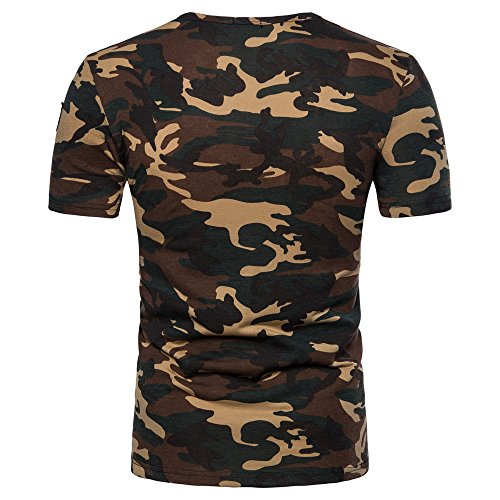 OrchidAmor 2019 New Men's Casual Camouflage Print O Neck Pullover T-Shirt Top Blouse Mens Moisture Wicking ()
