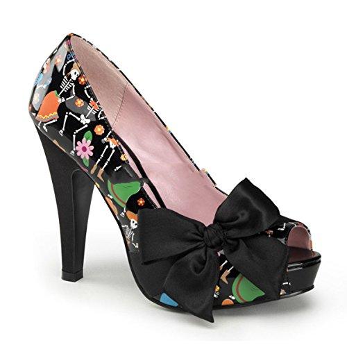 Pin Up Couture - Zapatos de vestir de satén para mujer Schwarz