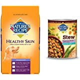 Nature's Recipe Healthy Skin Dog Food, Vegetarian Recipe, BUNDLE: 30-Pound bag dry dog food and 12/13.2-Ounce cans wet dog food