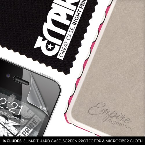 EMPIRE Signature Series One Piece Slim-Fit Case Tasche Hülle for Apple iPhone 4 / 4S - Hot Pink Rosa