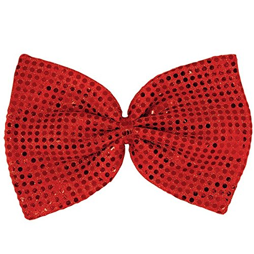Amscan Fun-Filled Christmas and Holiday Party Giant Sequin Bowtie (Pack Of 1), Red, 8
