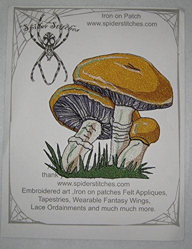 Lovely Boletus Edulis Mushroom Penny Bun Porcino Cep Iron on Patch Sew on Applique Shroom Patch