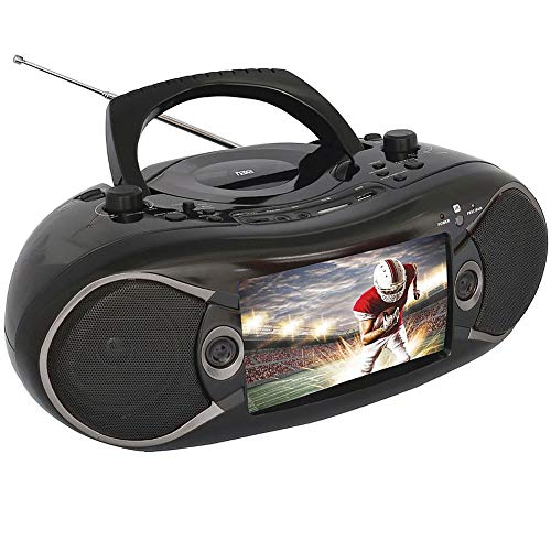 "NAXA Electronics NDL-257 7"" Bluetooth DVD Boombox & TV"