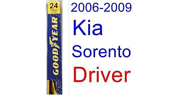 2006 - 2009 Kia Sorento hoja de limpiaparabrisas de repuesto Set/Kit (Goodyear limpiaparabrisas blades-premium) (2007,2008): Amazon.es: Coche y moto