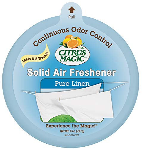 Citrus Magic Solid Air Freshener Pure Linen, Pack of 6, 8-Ounces Each (Room Magic Natural)
