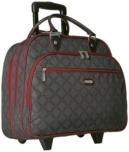 Baggallini Womens Rolling Tote Charcoal
