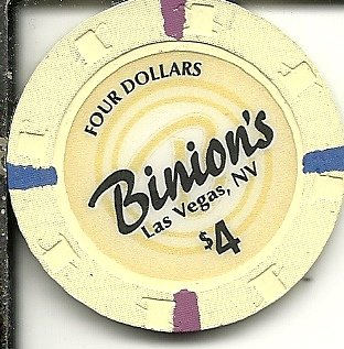 $4 binion's horseshoe casino las vegas casino chip obsolete