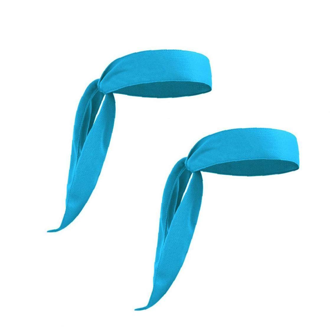 Deportes Cinta el/ástica Lazos Cabeza Ligera Banda de Sudor absorci/ón de Humedad Adecuado para Correr Tama/ño Gimnasio con Azul 1pc