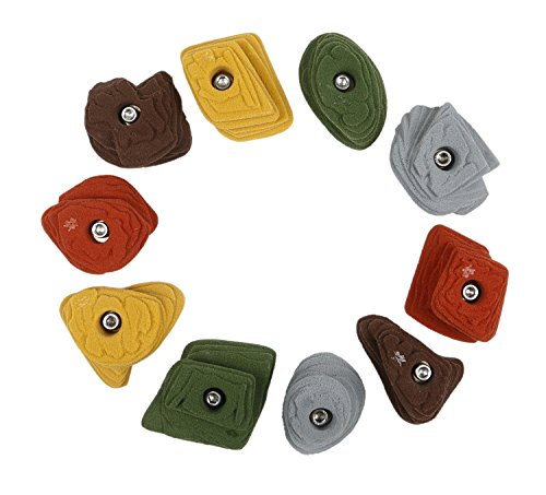 10 Sandstone Steep-Wall Crimps | Climbing Holds | Mixed Earth Tones by Atomik Climbing Holds