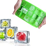 Uniqoutlet 15 Cavity Silicone Ice Cube Tray