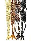 12 Pieces One Dozen Assorted Wood Nazareth Catholic Rosary Beads Jesus Imprint Crucifix by Bethlehem Gifts TM