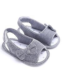Binmer(TM)) Newborn Toddler Girl Soft Sole Bowknot Sandals Shoes Baby Crib Cloth Prewalkers