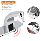 Yosoo Automatic Infrared Sensor Faucet, Zinc Alloy Smart Touchless Sink Faucet Kitchen Bathroom Water Tap with Control Box