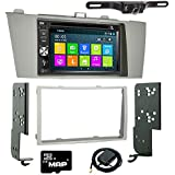 Otto Navi DVD GPS Navigation Multimedia Radio and Dash Kit for Toyota Solara 2004-2008 with Back up camera and extra