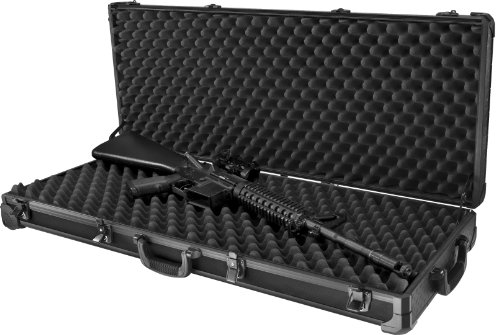 Loaded Gear AX-100 Hard Case, Large, Black by BARSKA Aluminum Hard Gun Case