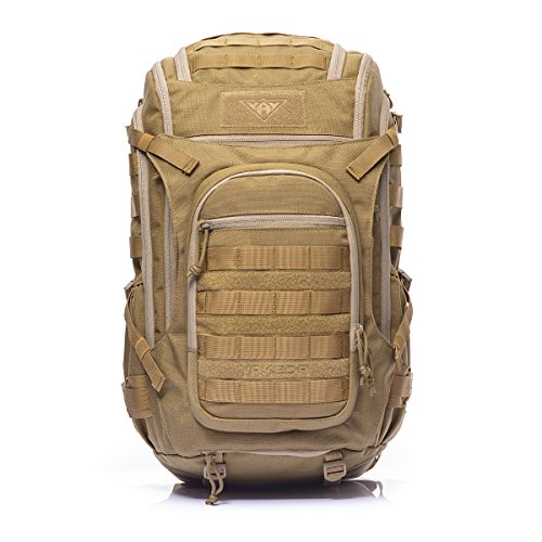 YAKEDAMilitary Tactical Backpack Large Army 3 Day Assault Pack Molle Bug Out Bag Backpacks Rucksacks for Outdoor Hiking Camping Trekking Hunting 40L -KF-048 (Mud color)