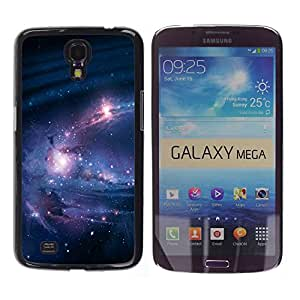Stuss Case / Funda Carcasa protectora - Metallic Black Star Filled Skies - Samsung Galaxy Mega 6.3