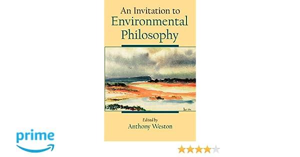Amazon com: An Invitation to Environmental Philosophy (9780195122046