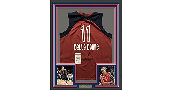 0fbd379fcc1e4 Elena Delle Donne Signed Jersey - FRAMED 33x42 Mystics Red COA - JSA  Certified - Autographed NBA Jerseys at Amazon s Sports Collectibles Store