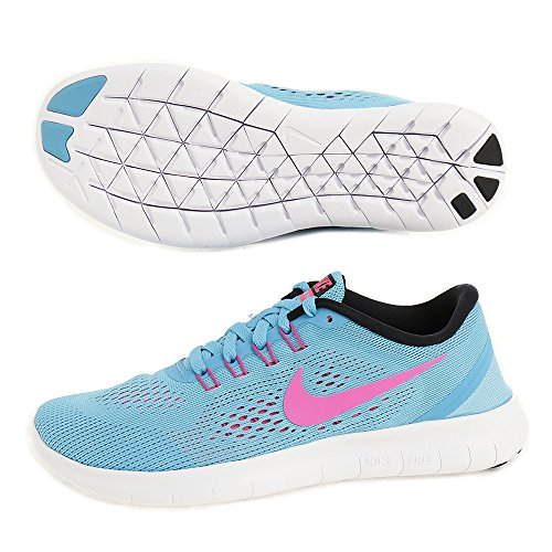 Nike Women's Free Running Shoes, Black, 5 Blue (Gamma Blue / Blk-pnk Blst-pht Bl)