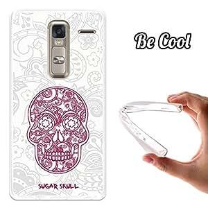BeCool® - Funda Gel Flexible LG Zero Calavera de Azúcar Blanca Carcasa Case Silicona TPU Suave