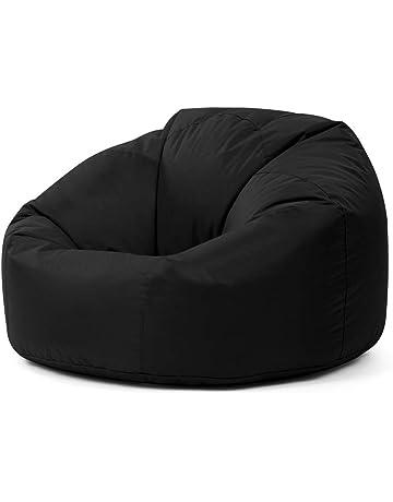Bean Bag Bazaar Puf Extragrande Impermeable para Interiores y Exteriores. Color Negro