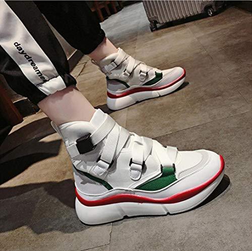de Zapatos blanco Hop Moda Altos Zapatos Transpirables Hop Señoras Hip Zapatos Ocasionales Zapatos Zapatos de Lucdespo Deportivos Malla Hip Altos w1fYwH0