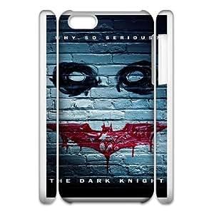 Back Skin Case Shell iphone6 Plus 5.5 3D Cell Phone Case White betmen batman kino the dark knight Jbfit Pattern Hard Case Cover