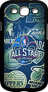 Black Samsung Galaxy S3 Case for 2014 NBA All-Star Game - Hard Plastic Samsung Galaxy S3 Case - Black