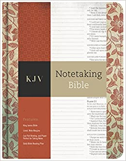 KJV Notetaking Bible, Red Floral: Holman Bible Staff