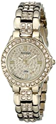 "Armitron Women's ""75/3689CHGP"" Swarovski Crystal-Accented Gold-Tone Bracelet Watch"