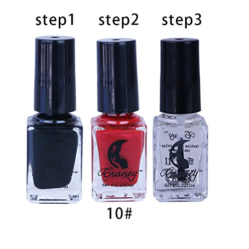 (Togethor Cracked Nail Shatter Kit Polish Set Of 12 Colours Included Base Set, Eco-Friendly Non-Toxic Finger Art Lacquer)
