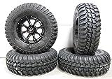 Bundle - 9 Items: STI HD4 14'' Wheels Black 30'' Regulator Tires [4x156 Bolt Pattern 12mmx1.5 Lug Kit]