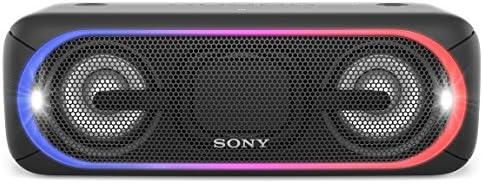 ソニー SONY ワイヤレスポータブルスピーカー 重低音モデル SRS-XB40 : 防水/Bluetooth/専用スマホアプリ対応 ライティング機能搭載 ブラック SRS-XB40 B